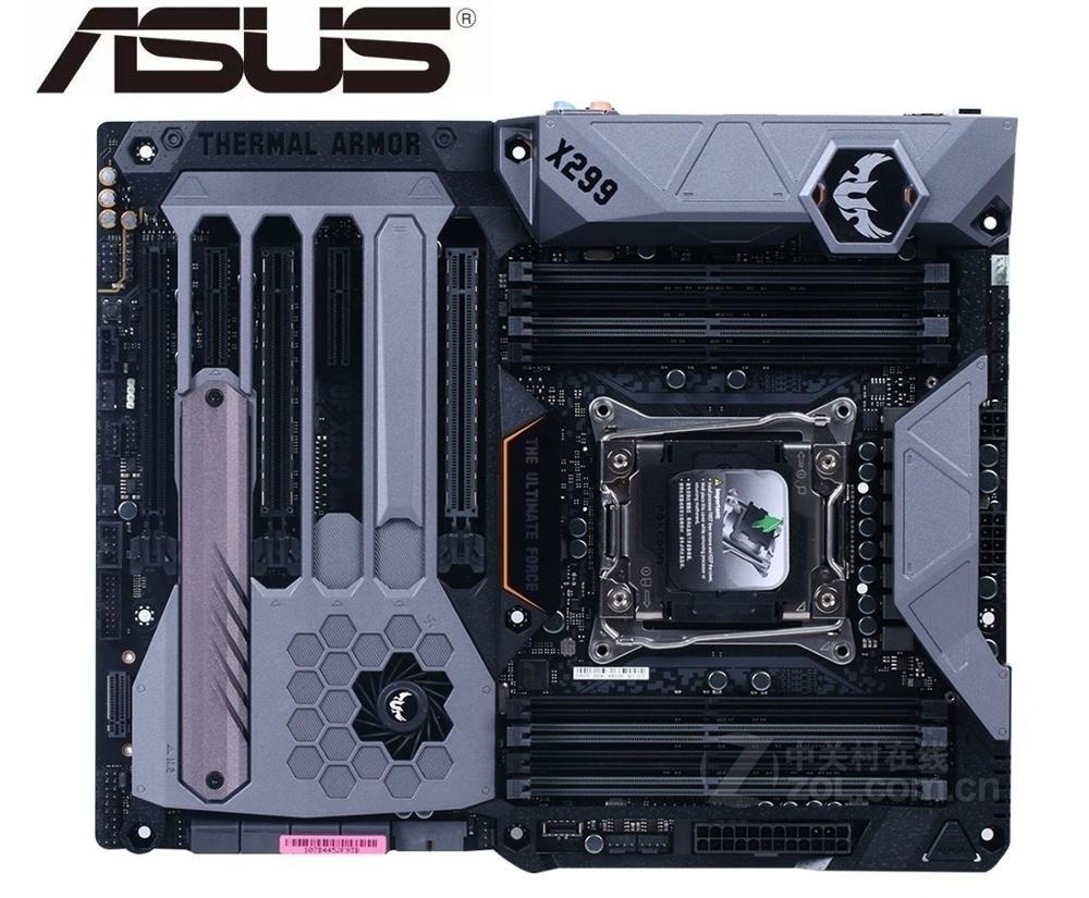 Asus TUF X299 MARK 1 X299 LGA 2066 DDR4 double M.2 USB 3.1 carte mère de bureau utilisée carte mère
