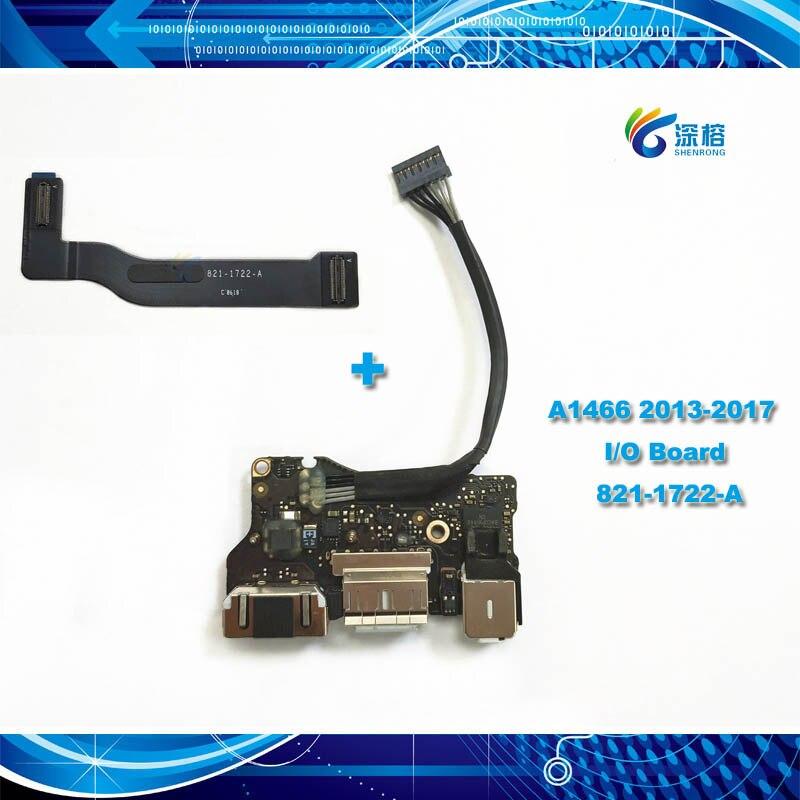 "Original I/O USB Audio DC-IN Jack Board Cable Flex 820-3455-A 821-1722-A for Apple Macbook Air 13.3"" Power Board A1466 2013-2017"