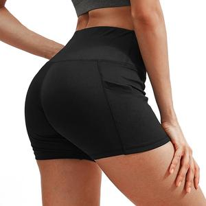 3 Packs Women High Waist Stretch Athletic Workout Yoga Shorts Home Outdoor Indoor Fitness Compression Shorts with Pockets