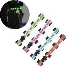 34 × 2,5 cm de largo LED cabeza de equitación decoración tubos luminosos caballos montar equitación silla Halters productos de cuidado del caballo # F5