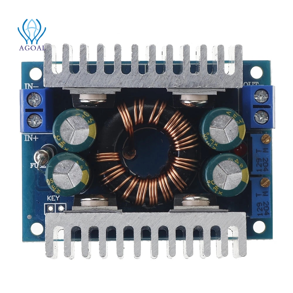 8A DC5-30V to DC1.25-30V 150KHz Automatic Step Up Step Down Adjustable Power Module Voltage Regulation With Short Circuit Prote