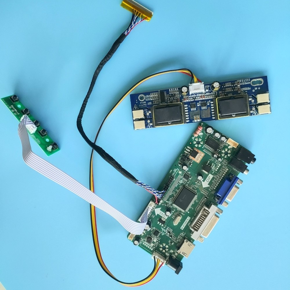 عدة لوحة تحكم HSD190ME13 HDMI + DVI + VGA LCD الصوت 1280x1024 لوحة 4 مصابيح 30pin مجلس سائق موتور عرض 19