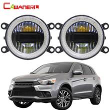 Cawanerl 3in1 fonction voiture LED antibrouillard DRL diurne lampe ange Eye 12V pour Mitsubishi RVR 2013 2014 2015 2016 2017 2018