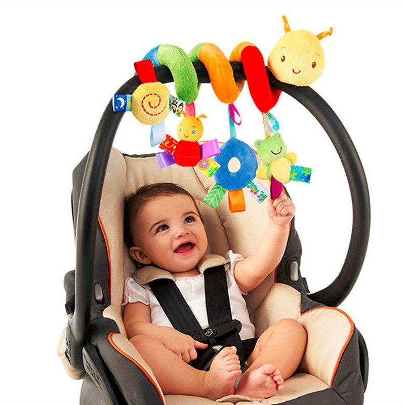 2020 mais novo estilo do bebê chocalhos brinquedo bonito atividade espiral berço carrinho de carro assento viagem animal pendurado brinquedos presente colorido