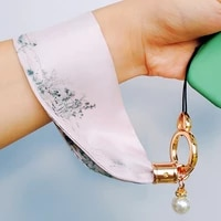 chinese style silk cloth charms for iphonesamsungxiaomihuawei mobile phone wrist strap