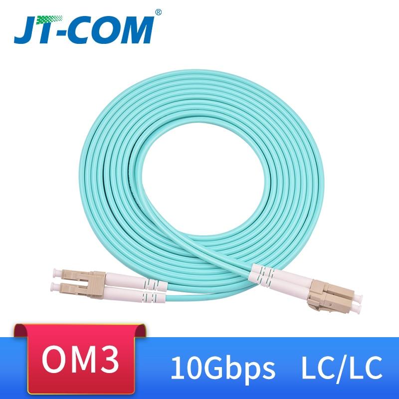 10G OM3 LC UPC-LC UPC Multimode Duplex 2.0mm 3.0mm Fiber Patch Cable LC Fiber Optic Patch Cord Optical Fiber Cable armoured armored patch cord fc lc lc fc multimode om3 50 125 duplex goodftth 20 100m