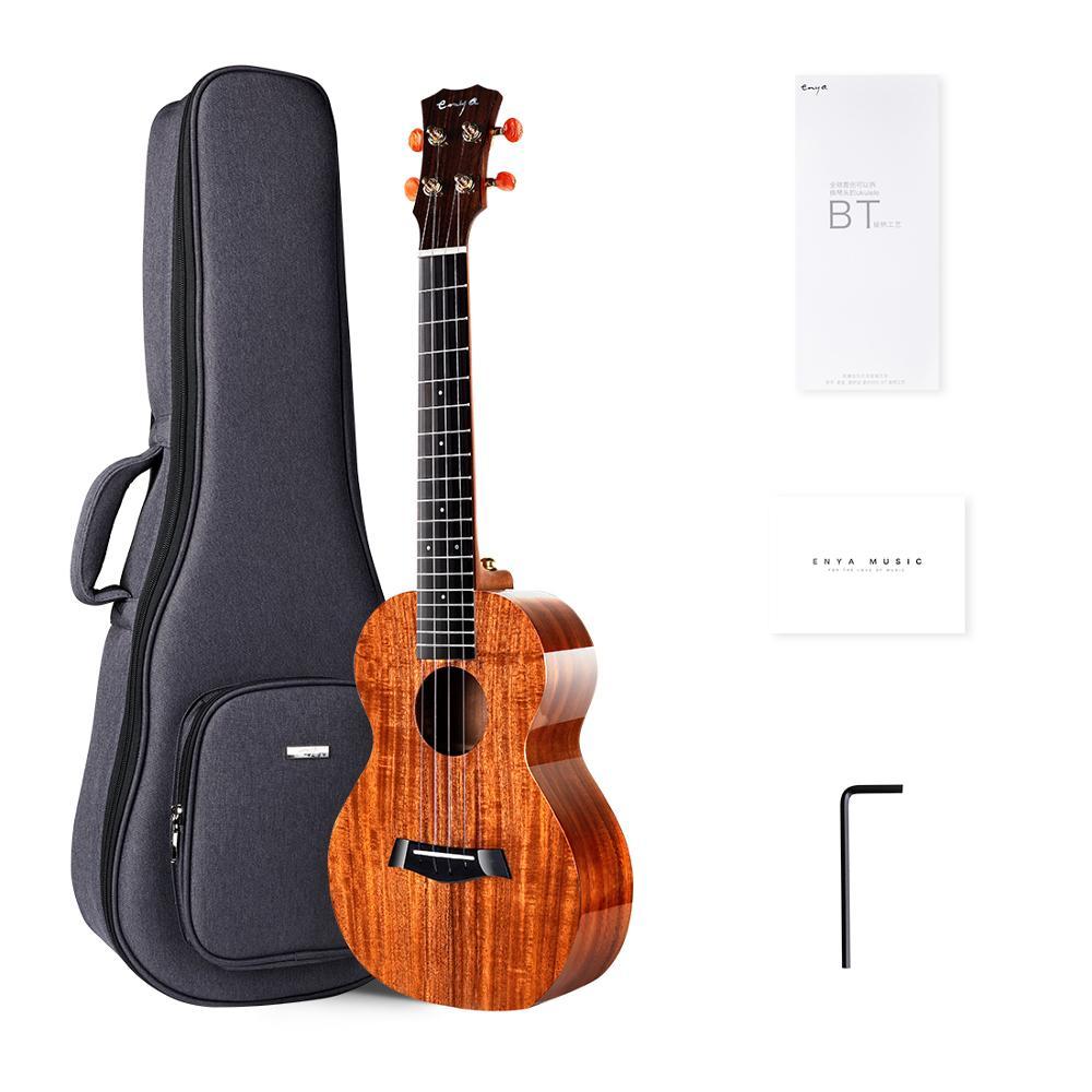 Enya Ukulele Konzert Tenor K1 Feste KOA Ukulele Akustische String Instrumente Hawaii Mini Gitarre mit Pickup und Ukulele Tasche