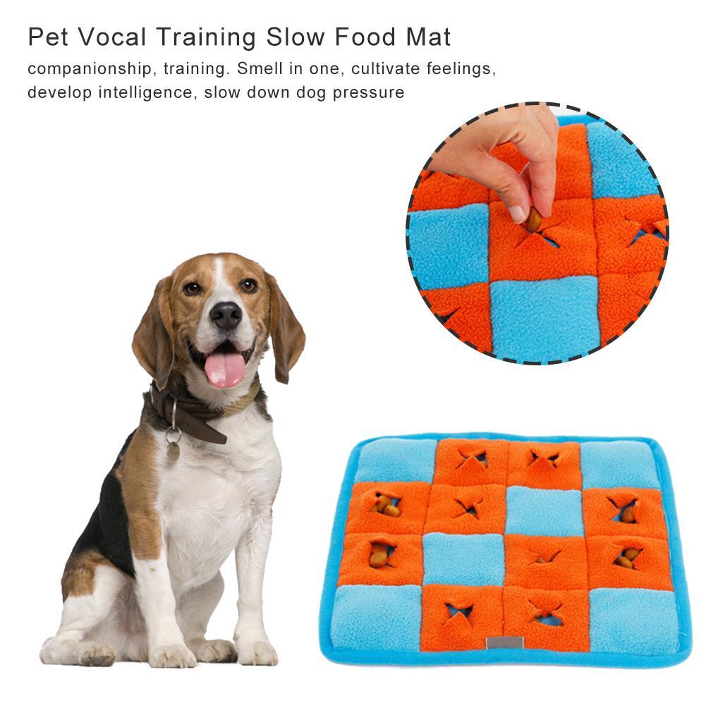 Cão de estimação snifing esteira cães brinquedos pequenos quadrados snifing almofada treinamento vocal cheiro lento alimentos esteiras animais de estimação estresse quebra-cabeça snifing esteira