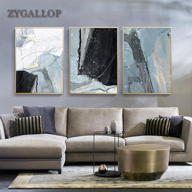 ZYGALLOP abstracto pintura de acuarela para lienzo de pared nórdicos arte tinta pinturas de pared moderno imagen Decoración Para sala de estar
