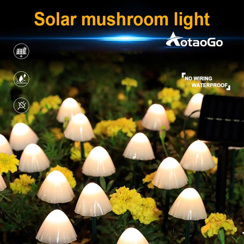 Светодиодная лампа, наружное украшение, садовая гирлянда, украшение для дорожек, сказосветильник гирлянда на солнечной батарее для свадьбы...
