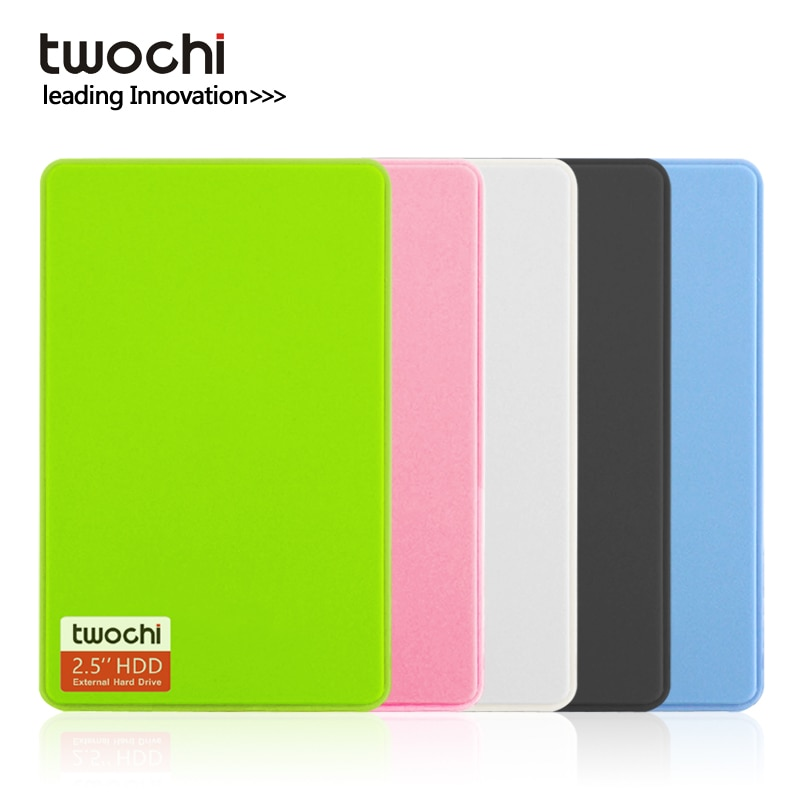 TWOCHI''2.5 inches External Hard Drive Disk USB3.0 SATA Portable HDD, Compatible with /Xbox 360/PS4/Mac/Tablet/PC, Easy Use