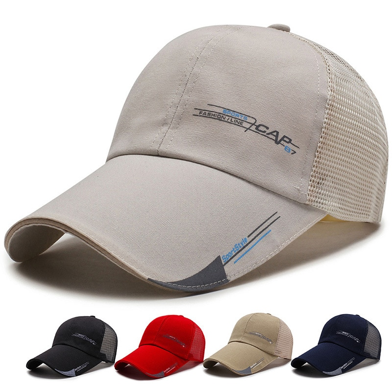 Gorra de béisbol para hombre, gorra de verano Vintage informal s para pesca al aire libre con protección solar
