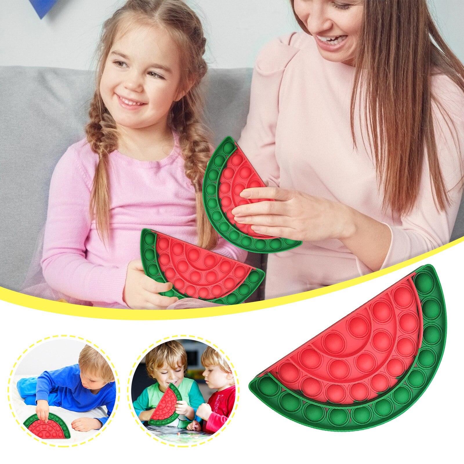 Игрушки-антистресс, арбуз, пресс-пузыри, музыка, для детей и взрослых, настольные развивающие игрушки, интерактивная игра для родителей и де...