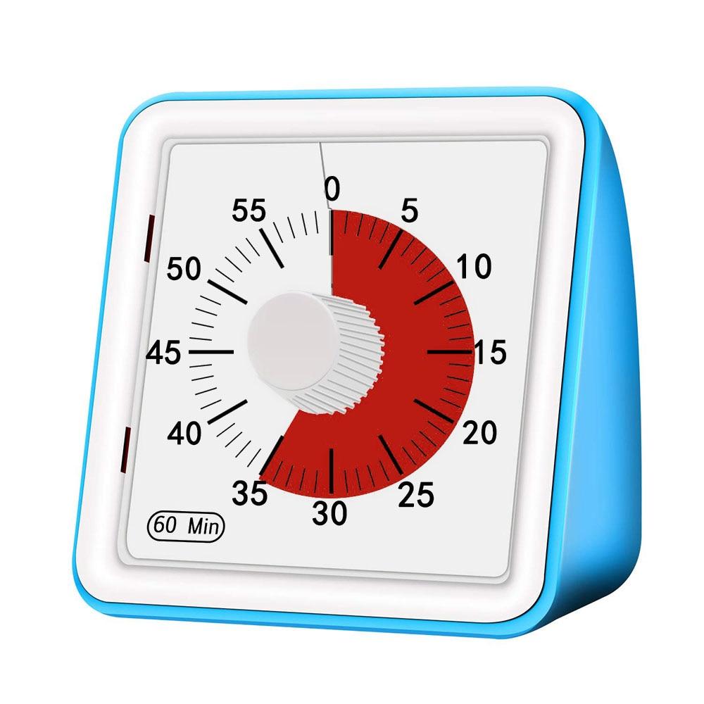 1 Uds 60 minutos Visual temporizador analógico silencioso reloj de Cuenta regresiva tiempo herramienta de gestión para los niños adultos seguro Durable