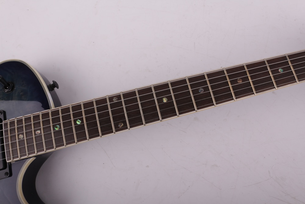 Good quality blue f hole electric guitar free shipping enlarge