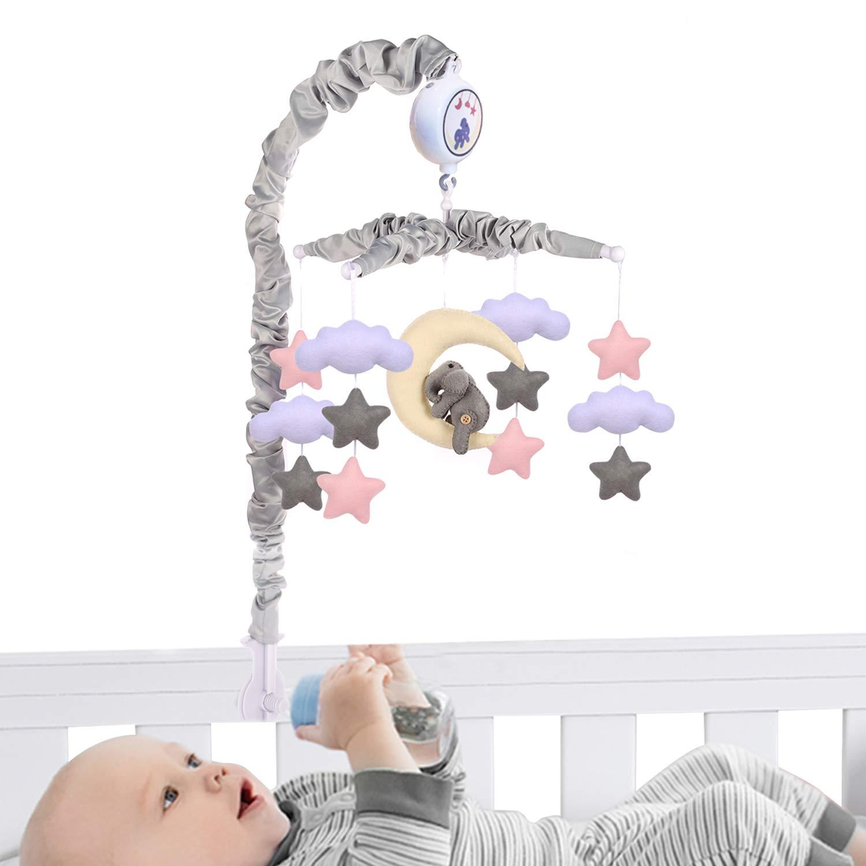 Baby Crib Mobile (Elephant Baby Mobile),Baby Mobile Crib Mobile Musical Mobile - Elephant Baby Mobile with 12 lullabies musics