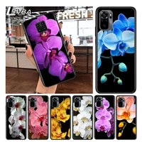 orchid beautiful colorful for xiaomi redmi note 10 10s 9 9t 9s 9pro max 8t 8pro 8 7 6 5 pro 5a 4x 4 soft black phone case