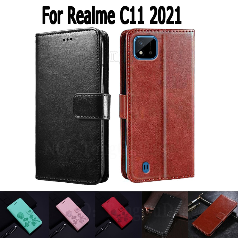 Wallet Case For Realme C11 2021 Cover Etui Flip Stand Leather Book Funda On Realme C 11 Magnetic Car
