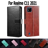 wallet case for realme c11 2021 cover etui flip stand leather book funda on realme c 11 magnetic card phone case hoesje capa bag