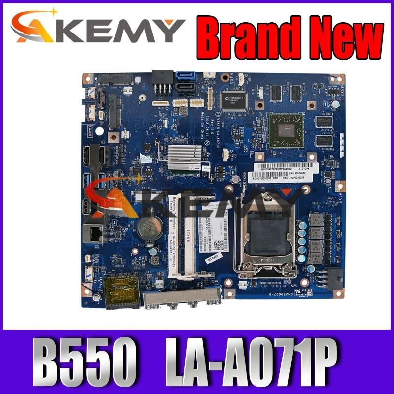 Para lenovo b550 23 aio placa-mãe de mesa mb via15 LA-A071P lga 1150 hd8850 2g gpu ddr3 90004107 100% totalmente testado