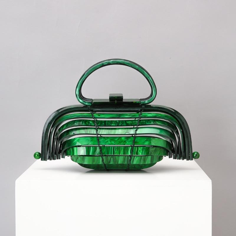 Women's Designer Luxury Handbag Acrylic Women Handbags Shoulder Messenger Bag Pillow PVC Box Clutches Purse Acrylic Bag Handles
