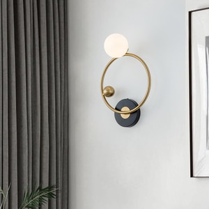 New Led Wall Lamps Modern Nordic Lighting Sconces Lampara Ring Glass Ball Bedside Living Room Bedroom Dining Decoration Lights