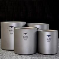ultralight titanium cup portable picnic water cup mug set double layer lightweight mug family cup set 220300450600ml