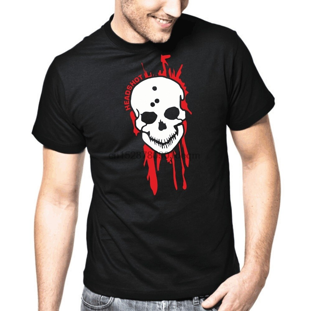 Camiseta Homme 2019 nuevo pantalón corto Casual Tops de manga Tee cabeza Ego tirador Horror jugador cráneo camiseta de superman