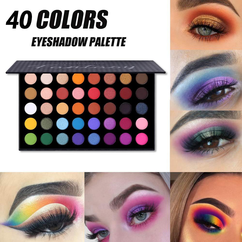 Ucanbe 40 colorido metálico diamante brilho fantasia sombra paleta maquiagem glitter shimmer fosco pigmentado nude olho sombra kit