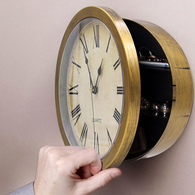 Vintage Wall Clock Safe Box  Secret Storage Box Wall Clock Safe Money Jewelry Valuables Storage Box Home Decoration