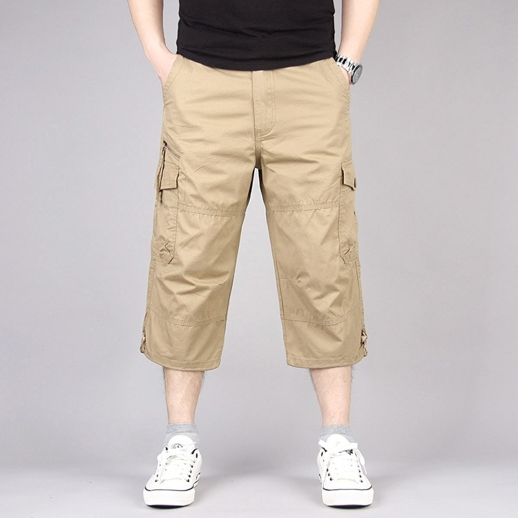 New Spring and Summer Cotton Men's Multi Pocket Shorts Men's Shorts Military Camouflage Pants