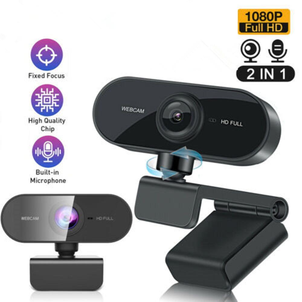 Webcam HD de 1080P para ordenador portátil de escritorio con micrófono cámara Web Autofocus para videoconferencia/videollamada/transmisión en vivo