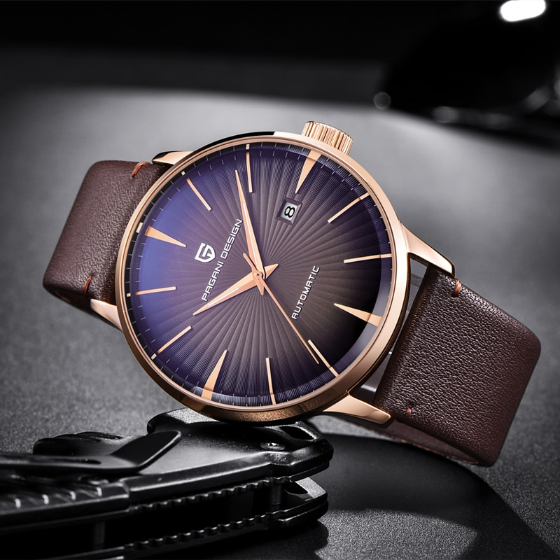 PAGANI Design 2021 Men's Watches Classic Mechanical Leather Watch Men Luxury Men Automatic Watches Business Waterproof Clock Man enlarge