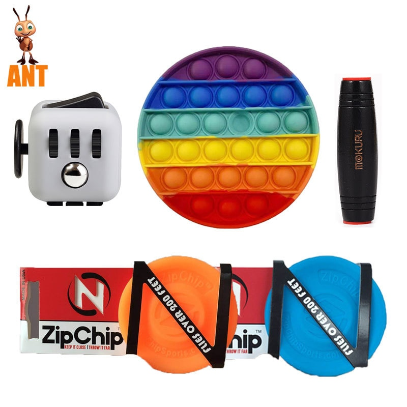 Zappeln Toys Anti Stress Set Popit Gift Pack Adults Children Squishy Sensory Antistress Relief Figet Toys enlarge