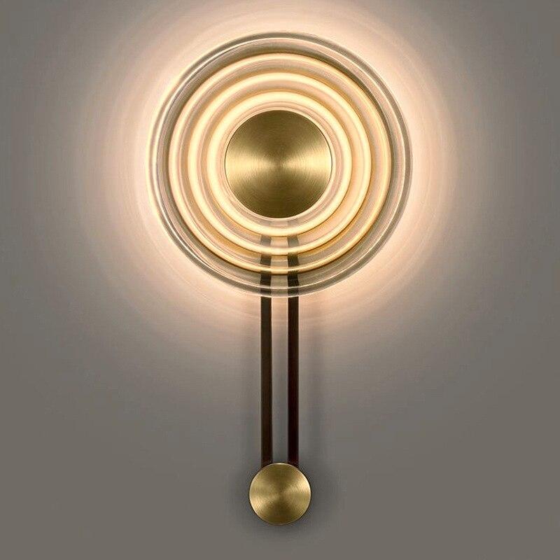 Lámpara de pared artística corrugada led moderna North Europe ins simple living fondo de sala pared dormitorio Lámpara decorativa