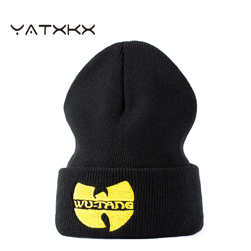 【YaTxKx】Knitted Cap Embroidery Hip Hop Unisex Beanie Casual Tide Elasticity Knitting Letter Winter Hat Adult Outdoor