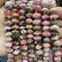 natural rhodochrosite stone beads irregular special cut genuine loose spacer beads for jewelry making diy bracelets 6x11mm 15