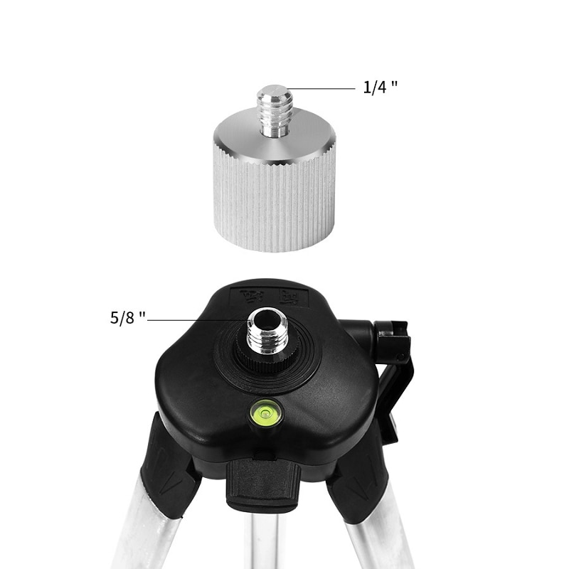 1 5m 1 2m universal adjustable aluminum alloy tripod stand for laser air level jul06 dropship Aluminum Alloy 5/8'' To 1/4 Adapter for 1/4 Thread Laser Level Rangefinder 5/8 Tripod Stand Photographic Equipment Accessories