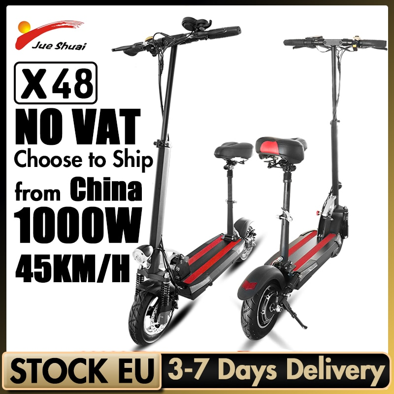 Patinete eléctrico de larga distancia para adultos, Scooter potente de 48V y...