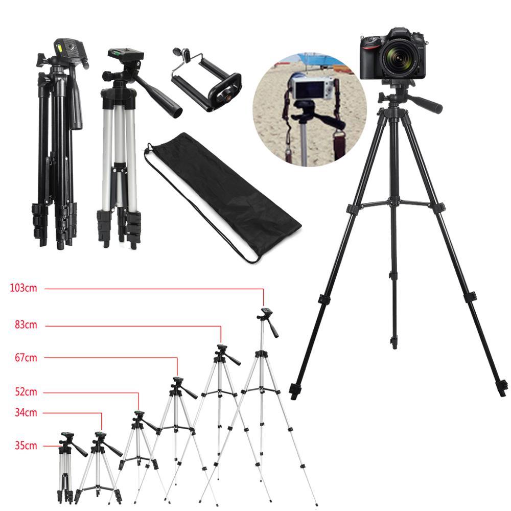Erweiterbar 36-100cm Einstellbare Stativ Halterung Halter Clip für Live für Youtube Kamera Telefon Halter Halterung Aluminium