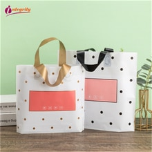 INTEGRITY50pcs Thickened Small Fresh Style Plastic Tote Bag Girl Dress Shoes Cosmetics Shopping Pouc