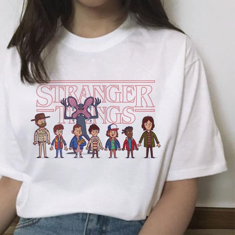 Stranger things 3 camiseta Eleven 2019 mujer nueva camiseta hip hop 90s gótico mujer ropa streetwear kawaii boca abajo