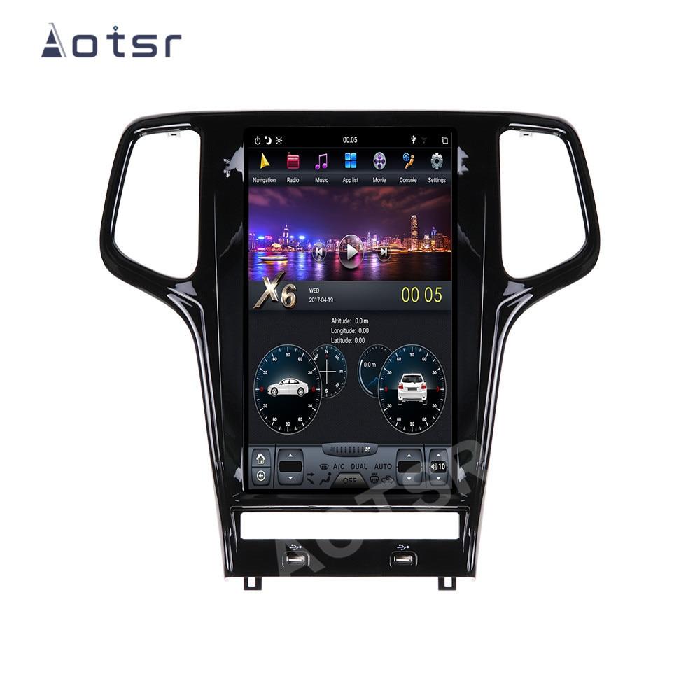 AOTSR Tesla Android 9 Auto Radio Für Jeep Grand Cherokee WK2 2009 - 2019 Multimedia Player GPS Navigation DSP CarPlay PX6 Einheit