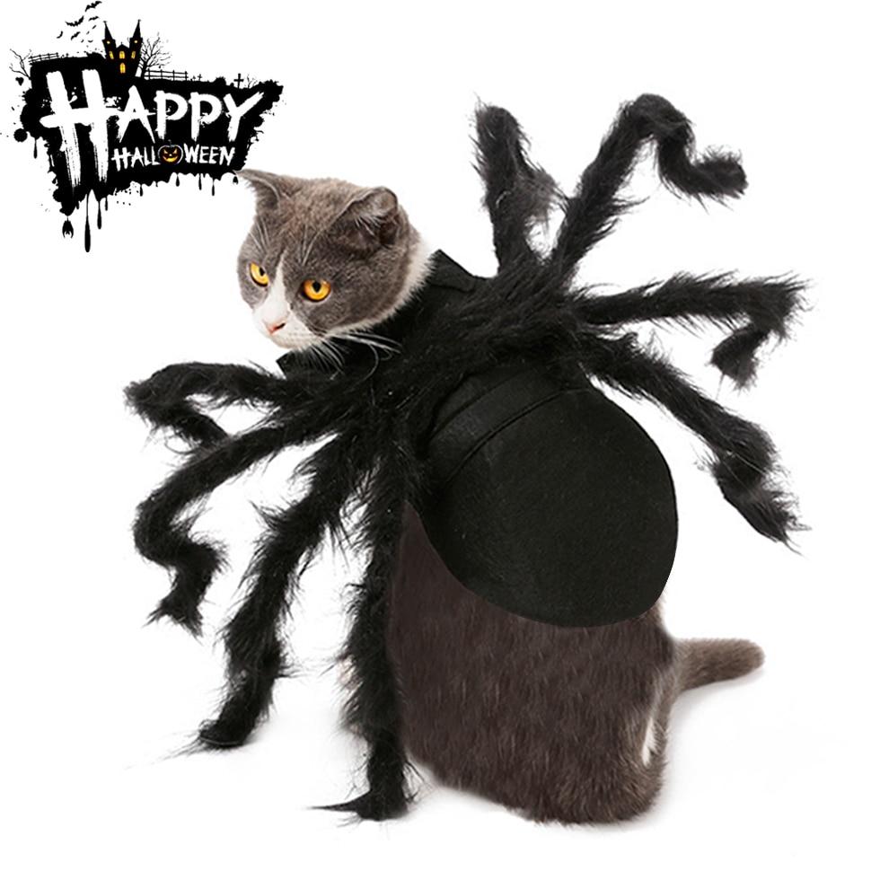 Halloween mascota gato ropa Mascotas disfraz ropa para Mascotas sudaderas con capucha lindo gato ropa cachorro Navidad chaqueta caliente para gatos y Mascotas traje