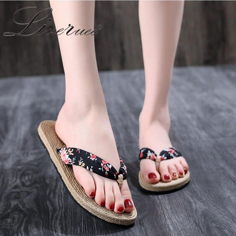 Lizeruee-sandales de plage à fleurs léopard pour femmes, tongs dété, tongs plates, style bohème, extérieur