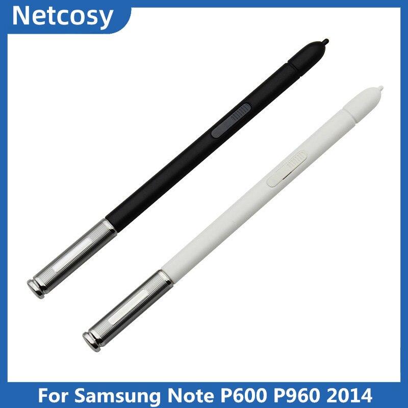 Lápiz capacitivo para pantalla táctil, Blanco/negro, para samsung Galaxy Note 10,1, edición 2014, P600, P960 S
