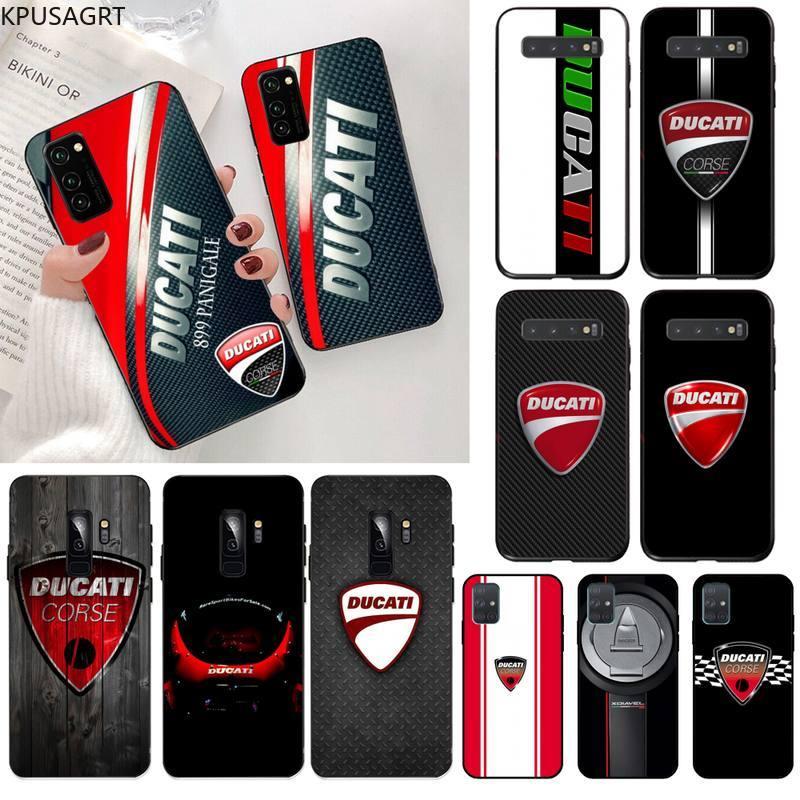 Usakpgrt ducati corse logotipo macio caso de telefone capa para samsung s20 plus ultra s6 s7 borda s8 s9 plus s10 5g lite 2020