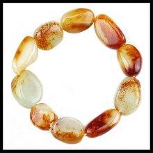 Xinjiang natural Hetian jade seed material bracelet with raw stone bracelet