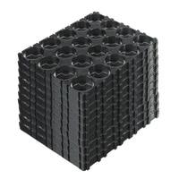 1020304050 pcs 4x5 black cell 18650 batteries spacer holders radiating shell plastic bracket plastic heat holder
