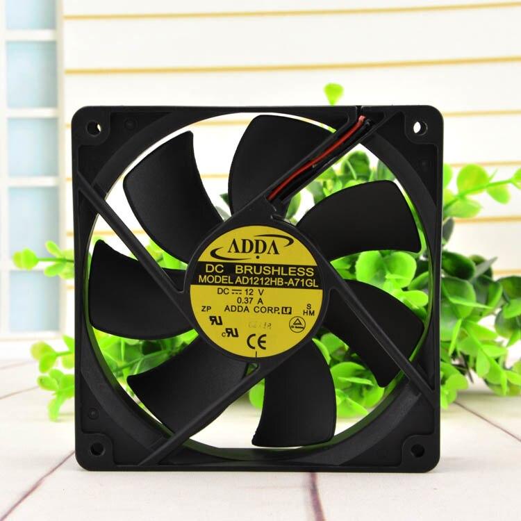 Adda AD1212HB-A71GL 12cm 12v 0.37a chassi fonte de alimentação ventilador fluxo refrigeração silencioso para embalagem cpu